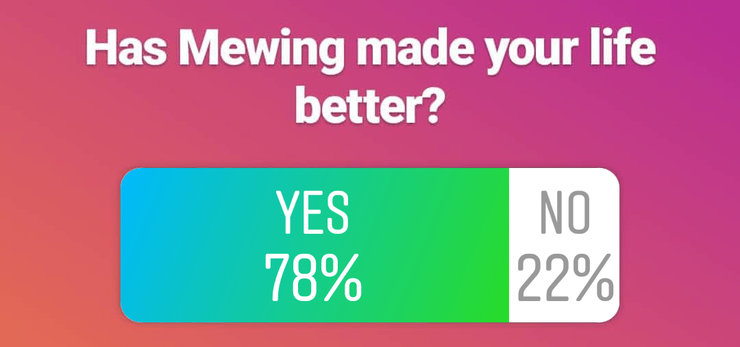 mewing results